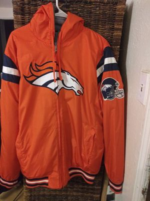 Denver broncos reversible jacket for Sale in Irving, TX