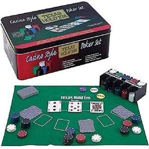 Casino Style Texas Hold'em Poker Set (Never Used) for Sale in Pompano Beach, FL