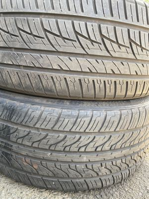 Two used tire 245/45R20 DELINTE end VERCELLI two used tire $90 for Sale in Alexandria, VA