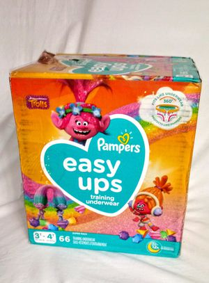 Pampers Easy up Trolls 3t-4t 66ct for Sale in Crete, IL
