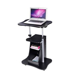 Rolling Laptop Desk Cart Adjustable Height w/ Storage Color Opt for Sale in Pomona, CA