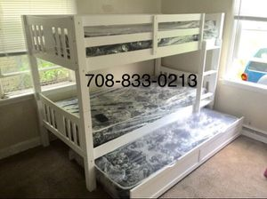 Brand New Twin Triplex Bunk Bed with Mattresses for Sale in Chicago, IL