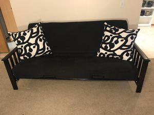 Full Size Futon Seats 3, Sleeps 1-2, PLUS Two Big Pillows for Sale in Tacoma, WA