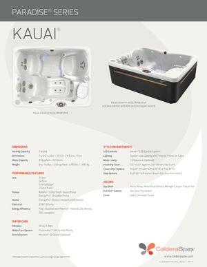 Caldera Kauai 3 person hot tub for Sale in Miami, FL
