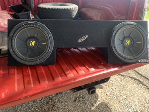 """2 12"""" Speaker BOX for 98-01 quad cab dodge for Sale in West, TX"""