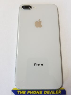 Unlocked iphone 8 Plus 64g silver very good clean imei for Sale in San Jose, CA
