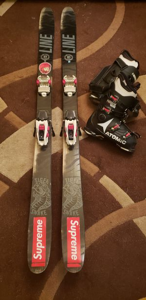 Rare Twin Tip Skis 171m & Ski Boots 26.5 for Sale in Brooklyn, NY