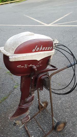 Vintage Johnson Sea Horse outboard motor for Sale in Bensalem, PA