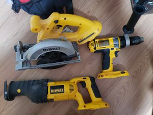 Dewalt Power Tools- Sawzall, Circular Saw, and Hammer Drill for Sale in Staten Island, NY