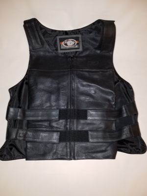 Motorcycle leather vest for Sale in Allentown, PA