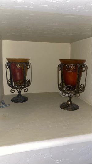 Candle holders with candles for Sale in Glendale, AZ