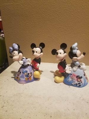 Disney porcelain Mickey and Minnie Bell's for Sale in Gresham, OR