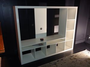 """Ikea Entertainment Center - white, fits up to 60"""" TV for Sale in SeaTac, WA"""