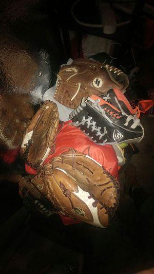 Softball baseball gloves for Sale in Cranford, NJ