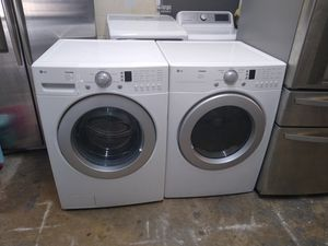 LG Tromm front loads large capacity washer and dryer electric for Sale in Houston, TX