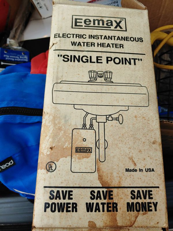Electric single point water heater