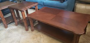 Coffee table with 2 end tables for Sale in Hudson, FL