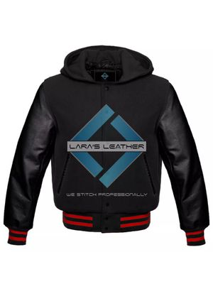 Unisex American Collage Coat Wool & Black Leather sleeves for Sale in Springfield, VA