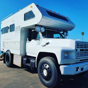 ONE OF A KIND MOTORHOME,Ford F700 Diesel with Lance Camper for Sale in Carlsbad, CA