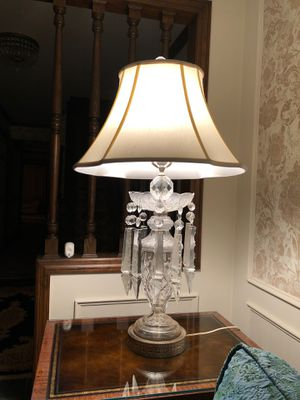 Set of 2 genuine crystal lamps for Sale in McKnight, PA