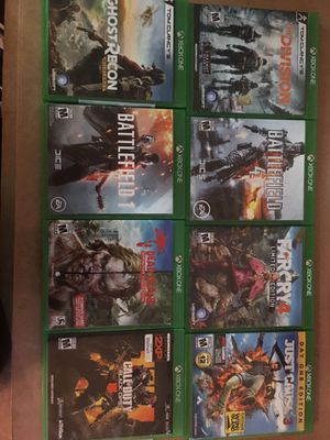 11 Xbox one games Bundle (can buy a game separately for 12$ each) for Sale in Hudson, FL