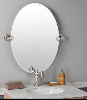 "Rectangular mirror( Satin Nickel, 26.5 Inch, oval without frame)Width: 19 - 1/2 ""Total width: 24"" (Depth) of projection: 2 ""Height: 26-1/2""(brand new) for Sale in Ontario, CA"