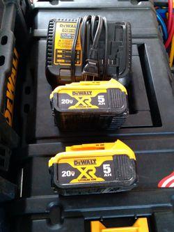Dewalt 20v Max Xr Batteries And Charger for Sale in San Jose,  CA