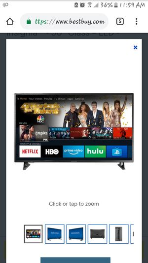 "Insignia 50"" 4k ultra hd Smart tv $300 (Remote, box for Sale in Fort Washington, MD"
