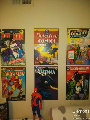 Comic Book plaques 15 a piece. 65$ for all for Sale in Nashville, TN