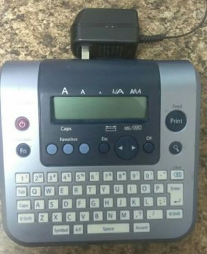 Label Maker with Power Cord for Sale in Fort Worth, TX