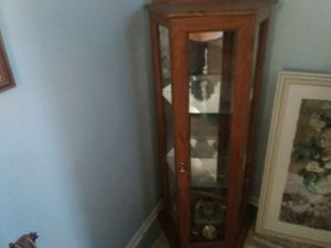 File cabinet, desk and wood book shelf all three in good shape! for Sale in Arnold, MO