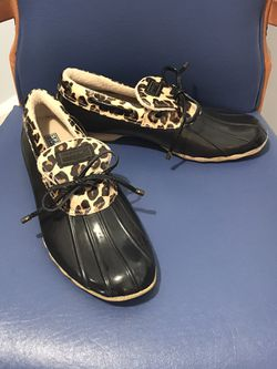 Sperry Top Sider Women's Leopard Print Duck Boots for Sale in Clifton Heights,  PA