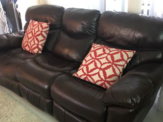 Recliner Sofa, Side Table And Glass Console Table For Sale for Sale in Fort Lauderdale,  FL