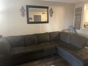 Charcoal gray sectional couch for Sale in Riverside, CA