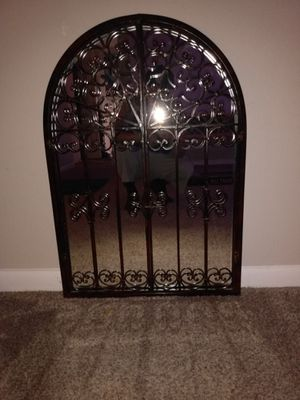 Antique Mirror with iron opening doors for Sale in Lakewood, CO