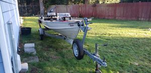Droping price....... 14' v-hull aluminum boat and EZ Loader trailer for Sale in Kent, WA