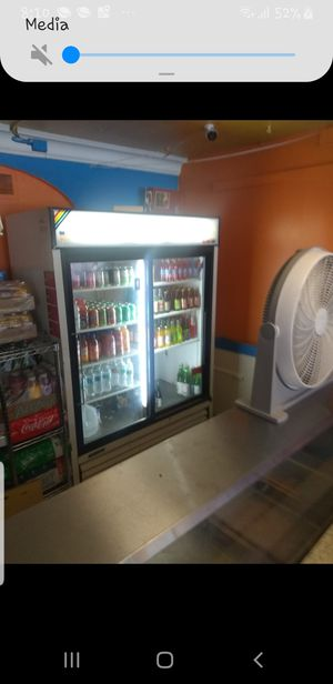 Glass door Cooler and 5 well steamer for Sale in Orlando, FL