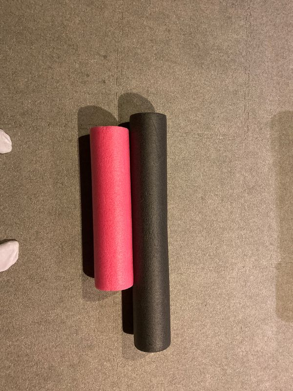 Black and Pink Muscle Foam Rollers