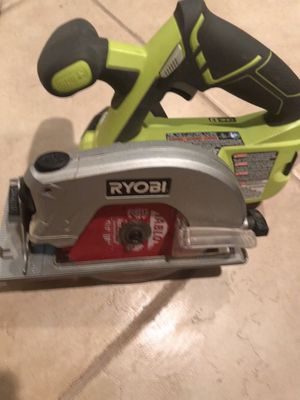 RYOBI P506 One+ Lithium 18V Cordless Circular Saw with green Ryobi Bag for Sale in Vienna, VA