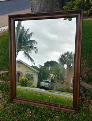 Large Wood Framed Mirror for Sale in West Palm Beach, FL