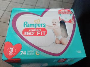 Pampers cruisers 360 fit size3 only $18 p/u/Fontana 3 for Sale in Fontana, CA