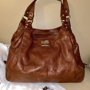 COACH Purse - Brown Leather lined in Light Pink for Sale in Lake Oswego, OR