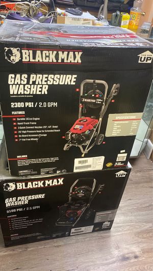 Black max gas pressure washer for Sale in Pittsburgh, PA