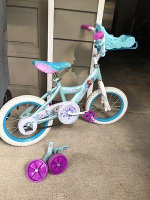 """Frozen 12"""" Bike with training wheels for Sale in Bellevue, WA"""