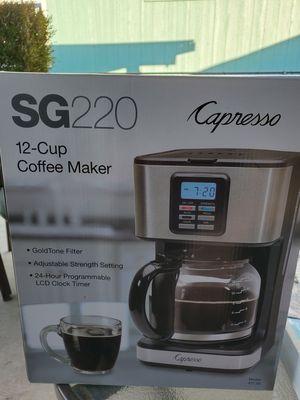 Capresso 12 cup coffee maker for Sale in Corona, CA