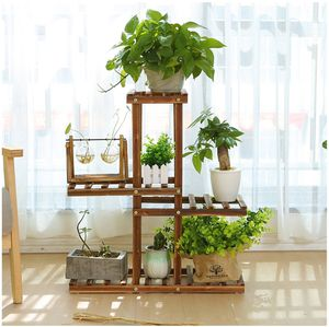 4 Tier Wooden Plant Stand Shelf Garden Indoor or Outdoor for Sale in Corona, CA