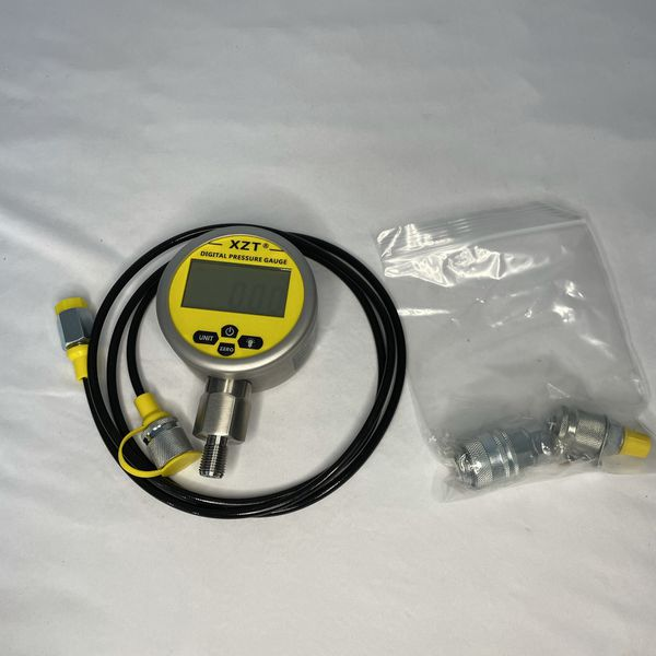 XZT 10000PSI Digital Hydraulic Pressure Test Coupling Kit,Repair Test Tools for USA Brand Excavator (10000PSI)