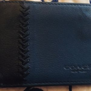 Mens Coach Baseball Stitch Wallet, Blue . for Sale in Henderson, NV