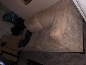 SUEDE CREME SECTIONAL for Sale in Fort Washington, MD