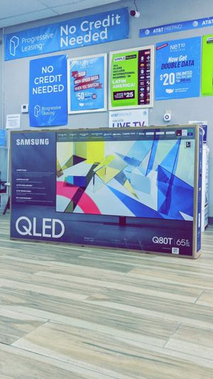 Samsung 65 inches - QLED - Q80T Series - 2160p - Smart - 4K UHD TV with HDR - Brand New in Box - Retails for $1799+ Tax !! $50 DOWN / $50 WEEKLY !! for Sale in Arlington, TX